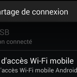 partage de connexion sous android