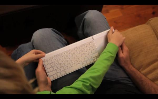 magicwand avec clavier et trackpad apple